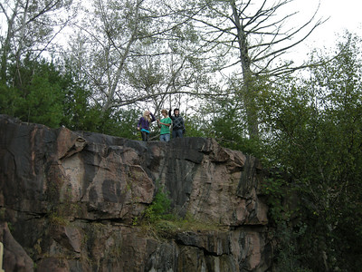 young kids on the oldest rock