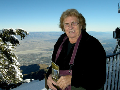 Mo overlooking the Coachella Valley from the top of the tramway