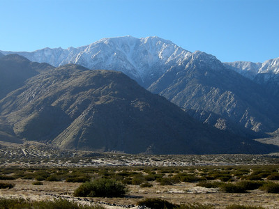 Mt San Jacinto in the moring sun