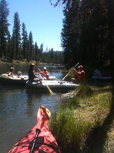 time for the family float on the Deschutes River
