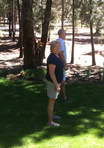 Sharon and Don playing bocci ball