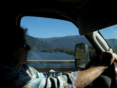 crossing the Klamath River, center of so much controversy from Klamath Falls all the way here to th ePacific Ocean