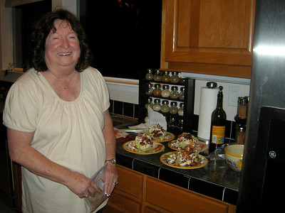 Maryruth makes bleu cheese wedge salads with a basalmic reduction