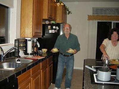 Gerald serves up the salads