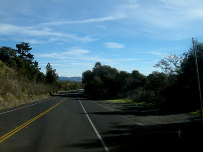 Leaving Forestville in the Sonoma Valley