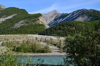 alluvial fan along the Macdonald River