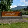 Kinaskin Lake our stop for the night