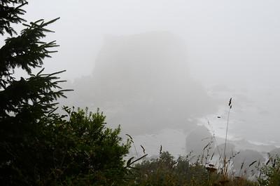 Oregon Coast shrouded in summer fog