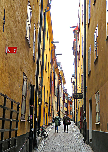 Old Town Stockholm Alleyway, Sweden