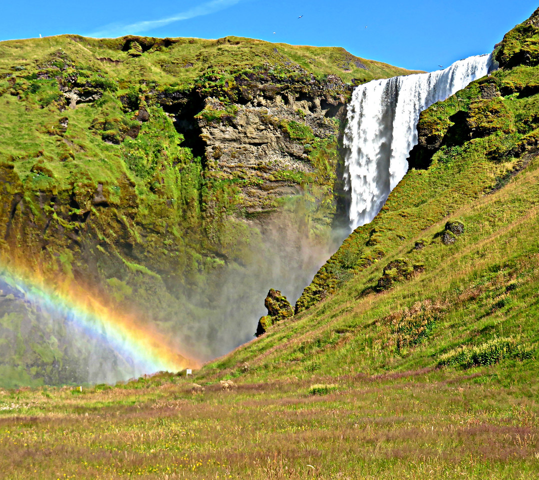 Waterfall and Rainbow, Iceland