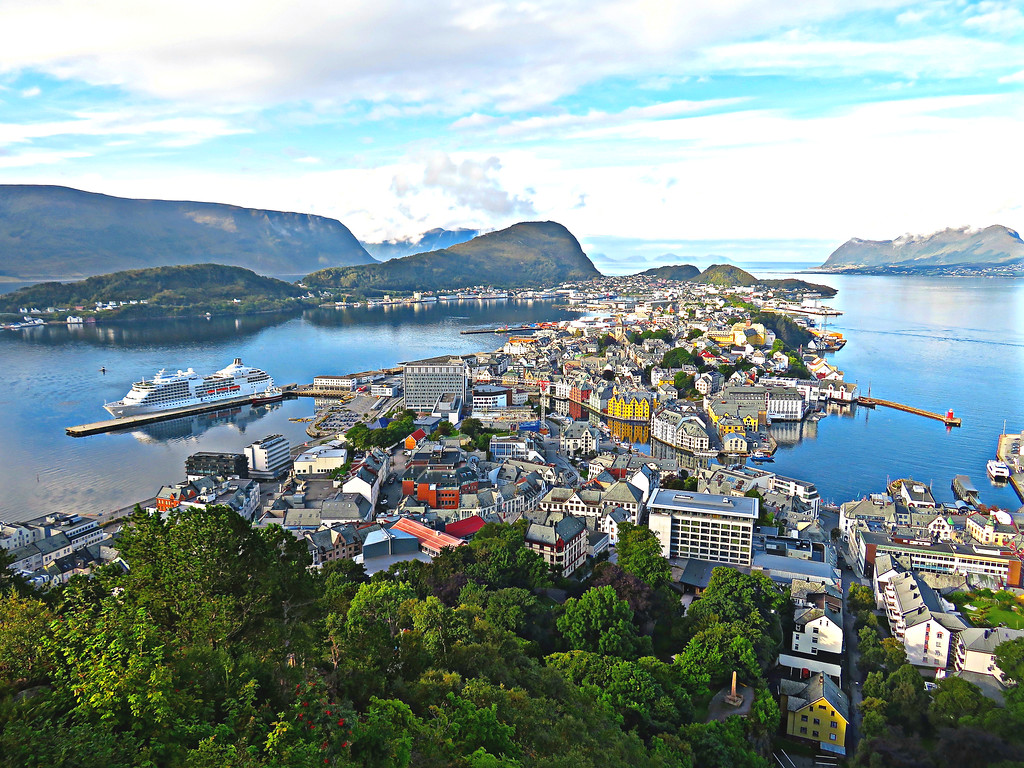View Over Aleshund, Norway