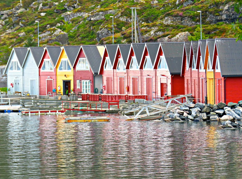Boathouses on the Island of Godoy, Norway
