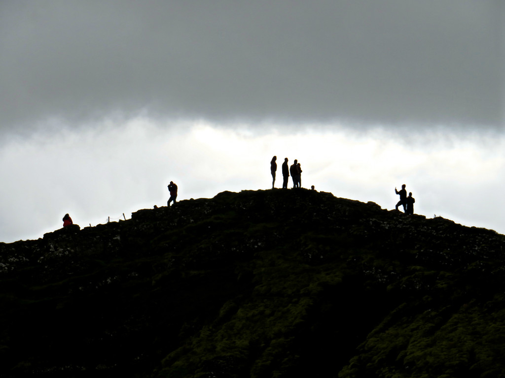 On The Volcano's Rim, Iceland