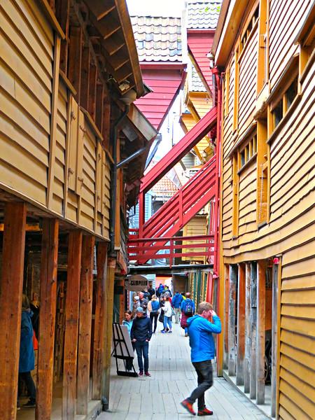 Bryggen Alleyway, Bergen Norway