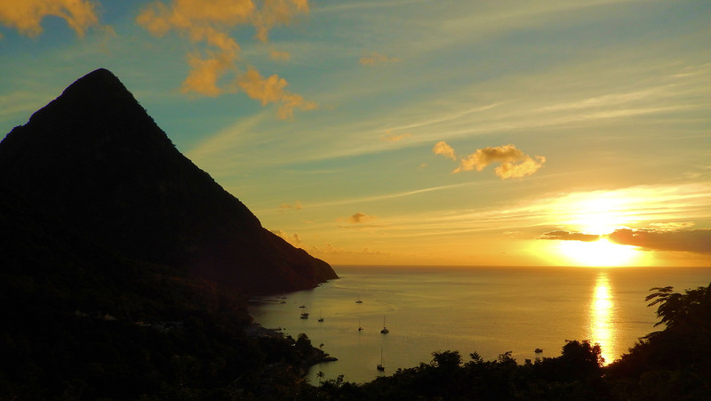 Gros Piton Sunset