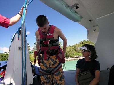 Evan preparing to take flight