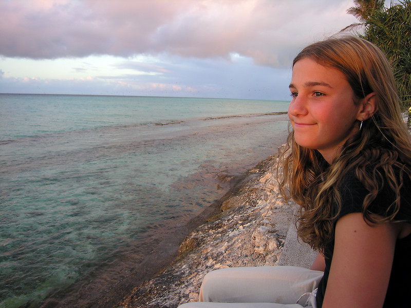 Mackenzie on Heron Island - south end of barrier reef - high tide