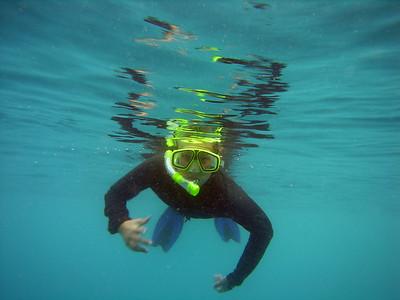Mackenzie snorkeling