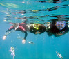 Jan, Evan and Mackenzie snorkeling