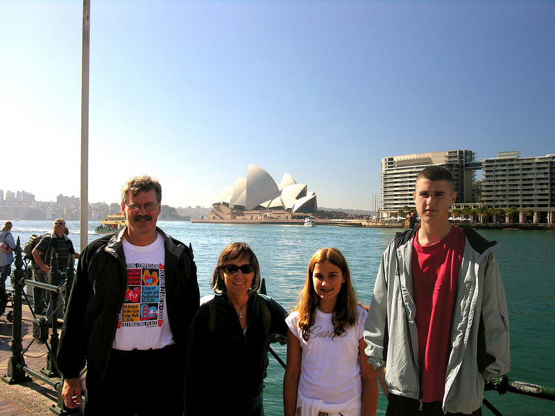 The Family in Sydney Harbor