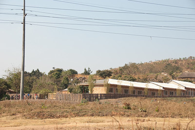 The Living Compassion compound in Kantolomba - the area inside the fence