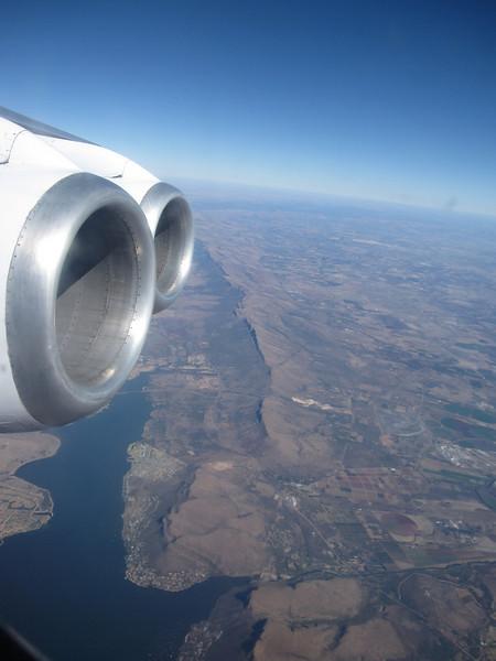 Passing over Hartebeespoort near Pretoria on the way to NDola, Zambia