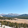 Tuolumne Meadows panorama - looking east from Pot Hole Dome