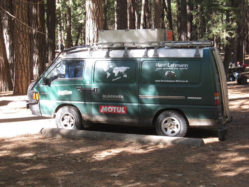 """Herr Lehmann goes around the world  <a href=""""http://www.HerrLehmanns-weltreise.de"""">http://www.HerrLehmanns-weltreise.de</a> in Upper Pines Campground in Yosemite Valley"""