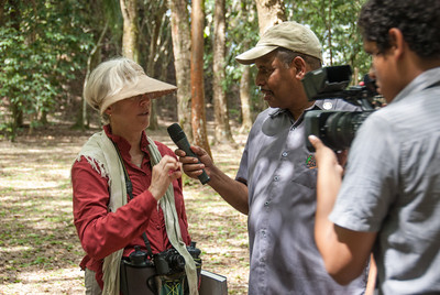 Belize Watch crew interviewing Anabel
