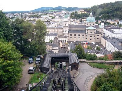 Tram to Hohensalzburg castle