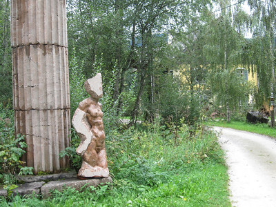 Local Bad Mitterndorf sculpture on the bike trail