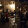 Night time entertainers on the Ponte Vecchio Bridge