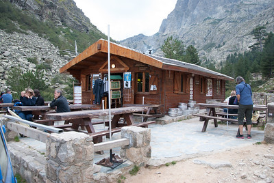 """Restaurant at the trailhead for our """"after hike"""" break - Restonica Gorge"""
