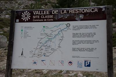 Map of Restonica Gorge - Restonica Gorge