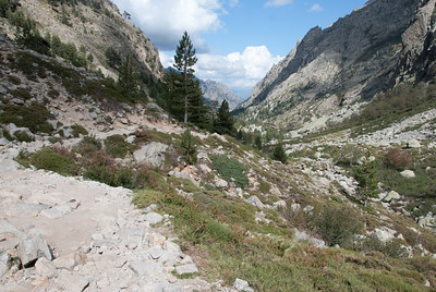 Looking back to the trailhead below - Restonica Gorge