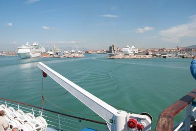 Leaving Livorno, Italy