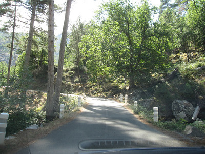 The skinny road to the Restonica Gorge