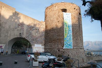 Calvi Fort - with Tour de France facade