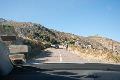 Driving up a nasty mountain behind Inky and Ali's place