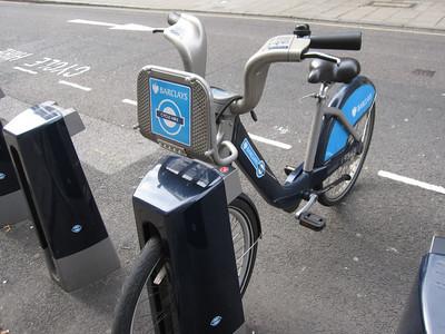Barclays Rental Bikes - many people used them
