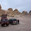 Camp at the Trona Pinnacles