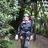 Confident zipliners - in spite of the wild wind!