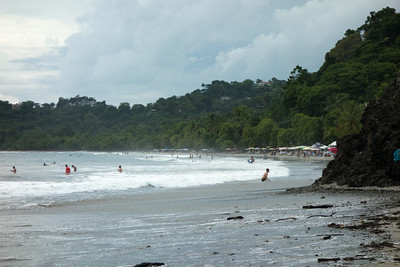 Manuel Antonio beach - looking north to the town area