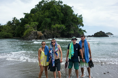 The kids at Manuel Antonio beach