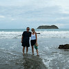 Jeff and Laura on the Manuel Antonio beach