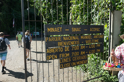 Entrance to Manuel Antonio National Park