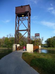 Bridge from Lindenwood Park, Fargo, to Gooseberry Park, Moorhead