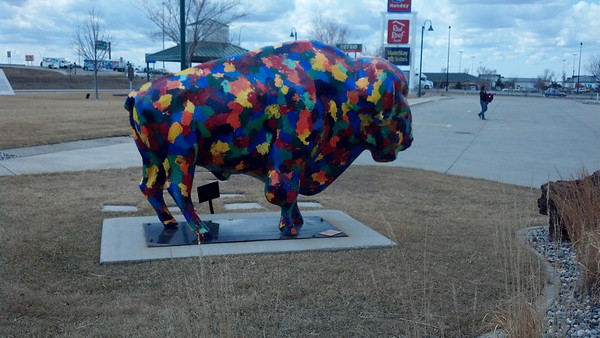 07_Painted bison by FM Visitor Center
