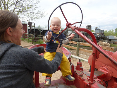 Otto driving the tractor