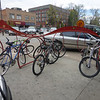 Bike rack in downtown Fort Collins